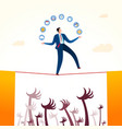 business stability threat vector image vector image
