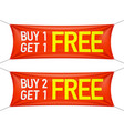 buy one or two and get one for free banners vector image vector image