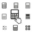 Calculator icon set