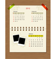 calendar2012 march vector image vector image