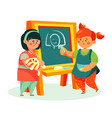 children drawing - colorful flat design style vector image vector image