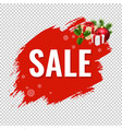 christmas sale with blob transparent background vector image vector image