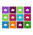 Cloud icons on color background
