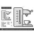 Coffee maker line icon vector image vector image