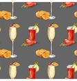Color pattern contemporary classics cocktails vector image vector image