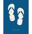 colorful horizontal ogee flip flops vector image vector image
