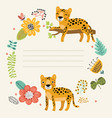 cute leopard background vector image
