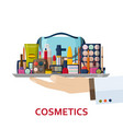 decorative cosmetics for face lips skin eyes vector image vector image