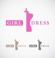 Dressmakers shop and store logo design vector image vector image