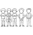 faceless man in different costume vector image vector image