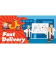 Fast delivery design vector image
