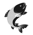 fish simple silhouette vector image vector image