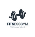 fitness gymnasium logo vector image vector image