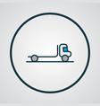 flatbed truck icon colored line symbol premium vector image