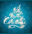 greeting inscription in the form of a christmas vector image vector image