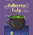 happy halloween party cartoon poster vector image