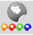 Heart sign icon Love symbol Set colur buttons vector image vector image