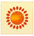 Hot abstract ethnic sun vector image vector image