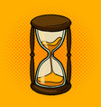 hourglass comic book style vector image vector image