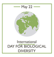 International Day for Biological Diversity vector image vector image