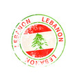 lebanon sign vintage grunge imprint with flag on vector image vector image