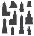 lighthouses and searchlights icons vector image vector image