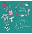 Lily for your greeting card vector image