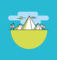 Line mountains in color linear vector image vector image