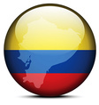 Map on flag button of Republic of Ecuador vector image vector image