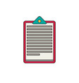 medical note flat vector image vector image