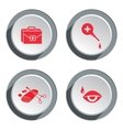 Medical tool icon set Tweezers tampons bandage vector image