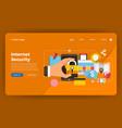 mock-up design website flat design concept vector image vector image