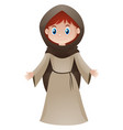 peasant lady in old clothes vector image vector image