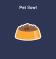 pet bowl flat icon sticker vector image vector image