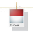 photo of indonesia flag on white background vector image