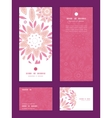 pink abstract flowers vertical frame pattern vector image vector image