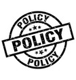 policy round grunge black stamp vector image vector image