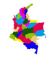 political map of colombia vector image