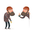 poor male homeless bum character isolated icon vector image