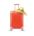 realistic travel suitcase bag vacation vector image vector image