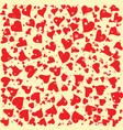 red hearts round background template halftone vector image vector image