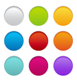 round paper buttons vector image vector image