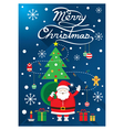 Santa Christmas Text and Tree vector image vector image