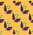 seamless autumn pattern with berries and vector image