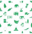 Sri-lanka country symbols seamless green pattern