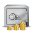 steel safe security concept metal safe vector image vector image