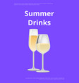 summer drinks champagne advertisement poster vector image vector image