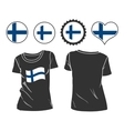 t-shirt with the flag of Finland vector image vector image
