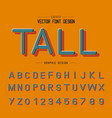 texture font and grunge alphabet tall letter vector image