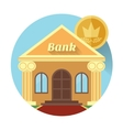the bank and coin Icon made in flat design vector image vector image